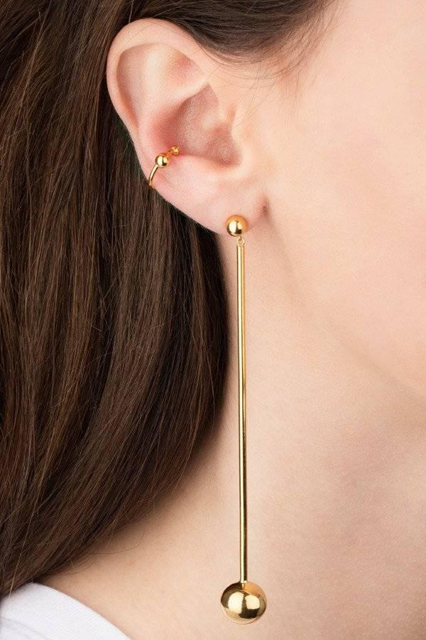 Maria Black Maria Black Orbit shoulder duster earring gold