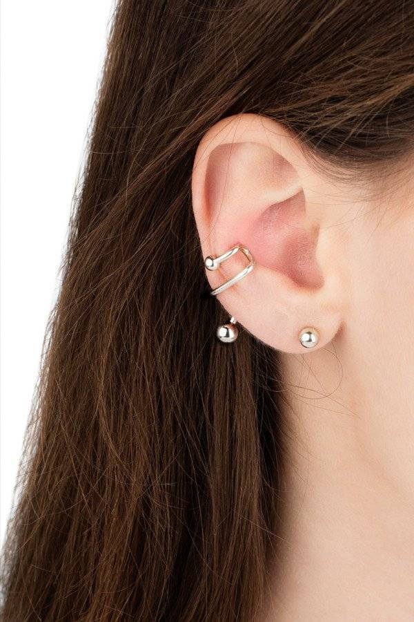 Maria Black Maria Black Ball earring silver