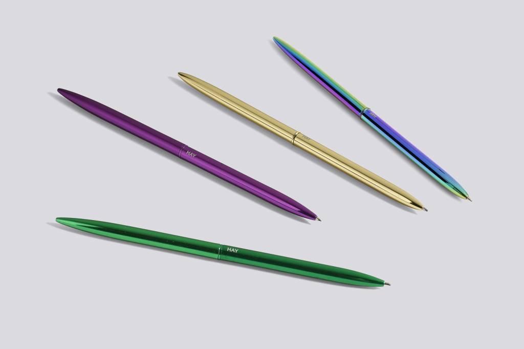 Hay pen bullet metallic purple