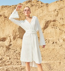 Just Female Lazer shirt dress optical white