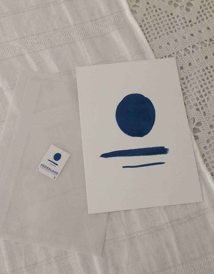 Lot du jour Lot du jour 'blue lagoon' postcard artwork