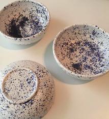 Ceramic bowl confetti