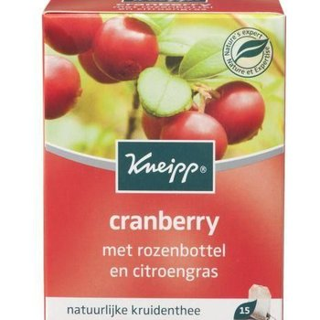 Kneipp Thee 15 zakjes Cranberry