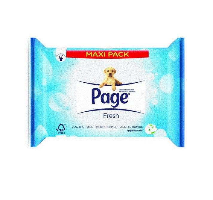 Page Vochtig Toiletpapier.Page Vochtig Toiletpapier Maxipack 84st Postdrogist