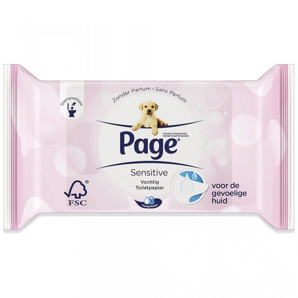 Page Vochtig Toiletpapier.Page Vochtig Toiletpapier Navul Sensitiv Postdrogist