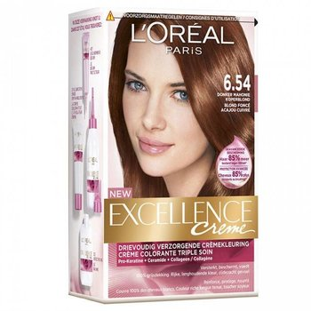 Loreal Excellence  6.54 Donker Mahonie Koperblond