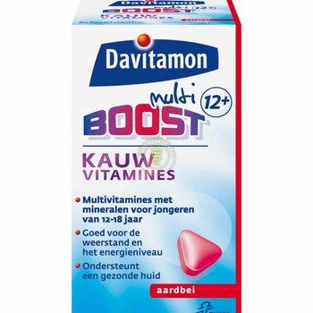 Davitamon MultiBoost 12+ Kauw  Aardbei - 60 stuks