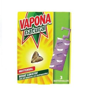 Vapona Natural Mottenval - 3 stuks