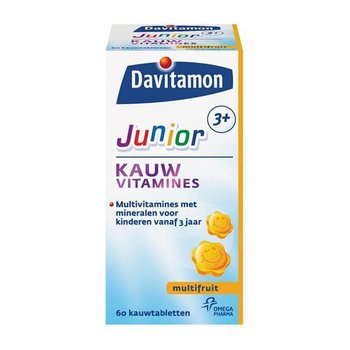 Davitamon Junior 3+ Multifruit - 60 kauwtabletten