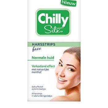 Chilly Silx Harsstrips Gezicht - 20 stuks