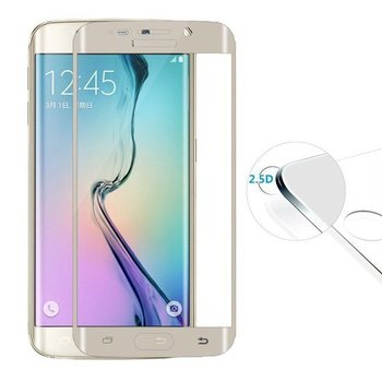 Samsung S6 Edge Plus Screenprotector Tempered Glass Gold