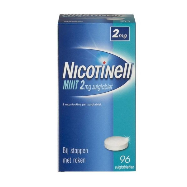 Nicotinell Nicotinell Zuigtablet Mint 2mg 96 zuigtabletten