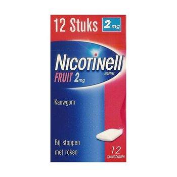 Nicotinell Kauwgom Fruit 2mg -  12 stuks