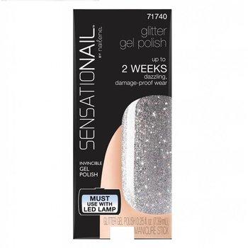 Sensationail Gel Polish Silver Glitter