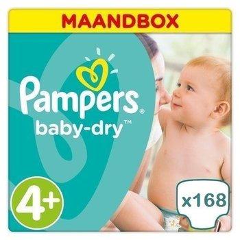 Pampers Baby Dry maat 4+ - 168 luiers