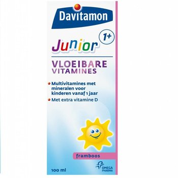 Davitamon Junior 1+ Vloeibaar Framboos - 100 ml