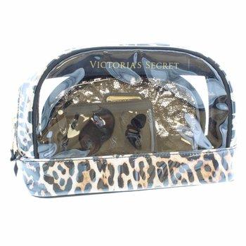 VICTORIA'S SECRET SIGNATURE TRIO BAG / Toilettas / Make up Tas / 3 stuks