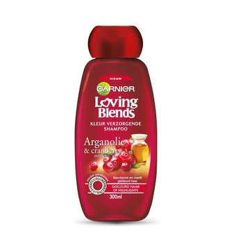 Garnier Loving Blends Shampoo Cranberry & Arganolie - 300 ml