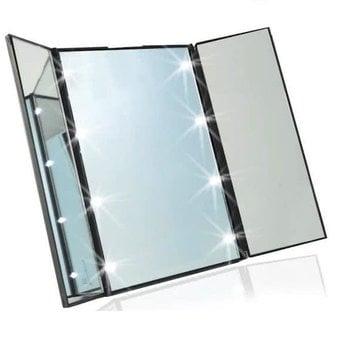 Zwarte LED Make-up Spiegel met verlichting  8 Led lichtjes