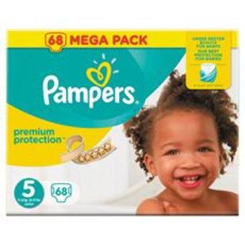 Pampers Premium Protection maat  5 - 68 luiers