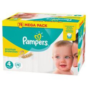 Pampers Premium Protection maat  4 - 78 luiers