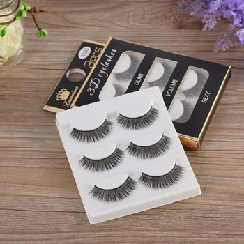 3 Nepwimpers set / Wimperextensions Set