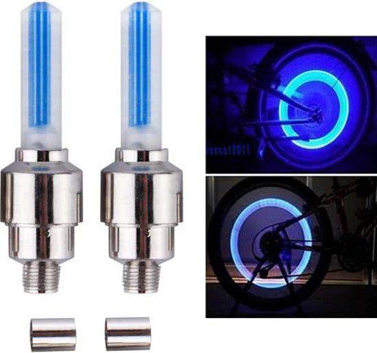 2 x Blauwe Fiets Ventiel verlichting - Postdrogist