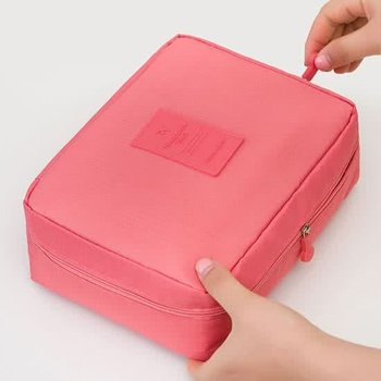 Pink Travel Toiletbag - Reis Toilet Bag Make Up Organizer - Cosmetica Etui Tasje
