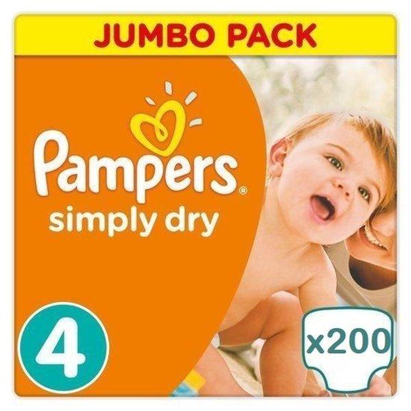 Pampers Pampers Simply Dry Maandbox maat 4 - 200 luiers