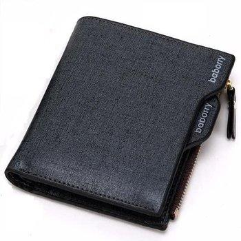 Portemonnee Zwart Blauw Leer