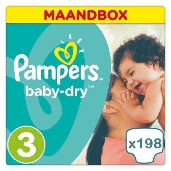 Pampers Pampers Baby Dry maat 3 - 198 luiers