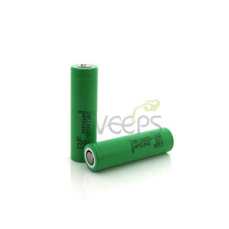 Samsung Samsung 25R-5R 2500mAh 20A 18650 Flattop Batterij