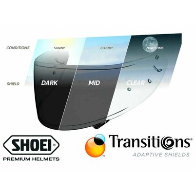Shoei NXR / RYD / X-Spirit 3 transitions adaptive visor