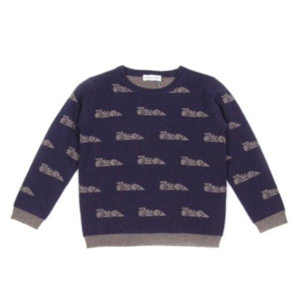 Sweatshirt - Blauw Print