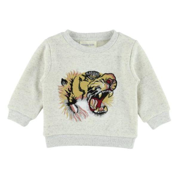 Sweatshirt - Lichtgrijs Print