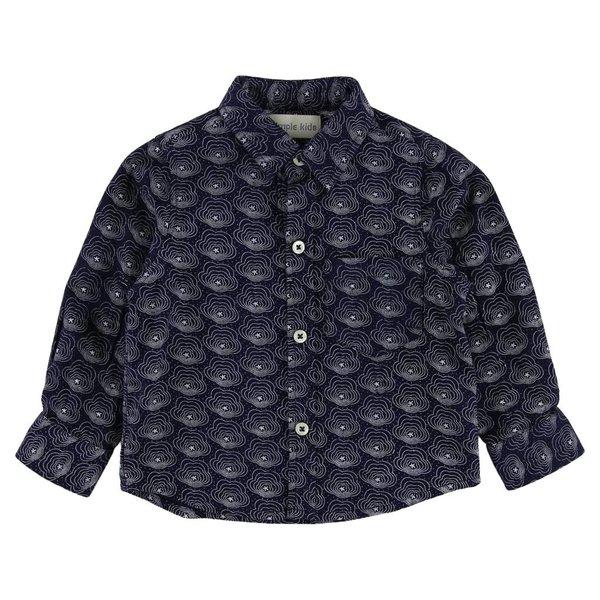 Overhemd met print - blauw