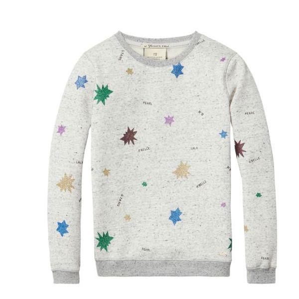 Sweatshirt - Grijs met Print