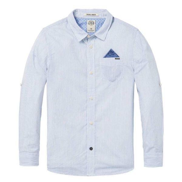 Overhemd - Lichtblauw met Streep