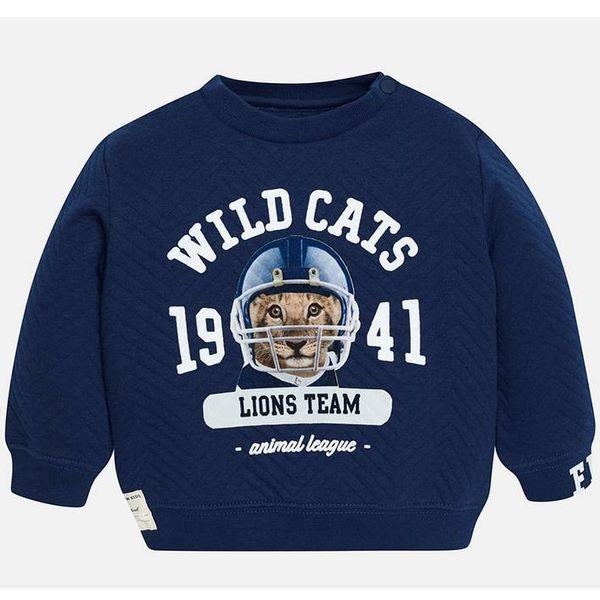 Sweatshirt - Marineblauw met Print