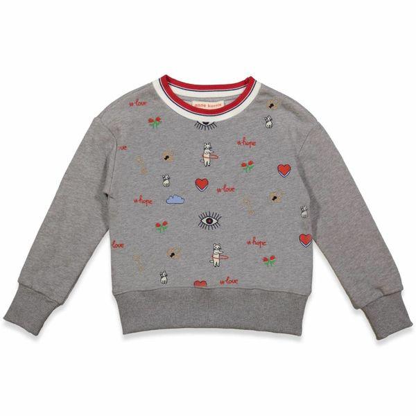 Sweatshirt grijs met print