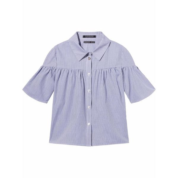 Katoenen gestreept overhemd