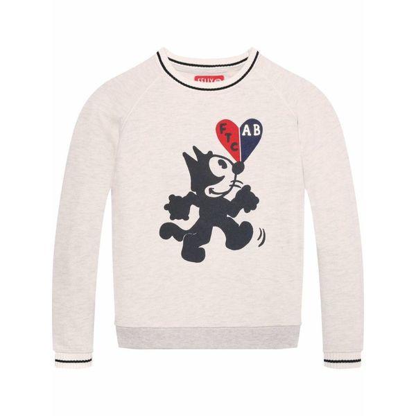 Sweater melange-grijs
