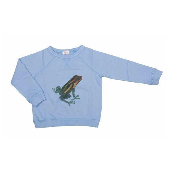 Sweatshirt lichtblauw met kikker