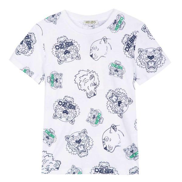 Shirt met tijger koppen print