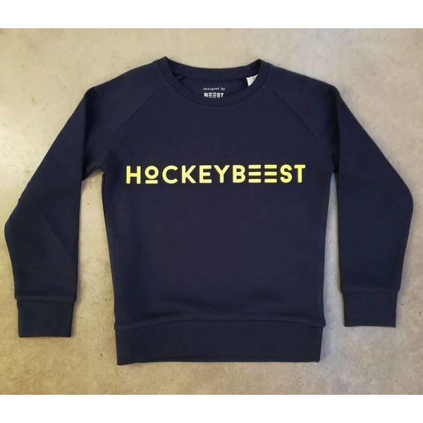 Beest 81E Hockeybeest blauw-fluo geel