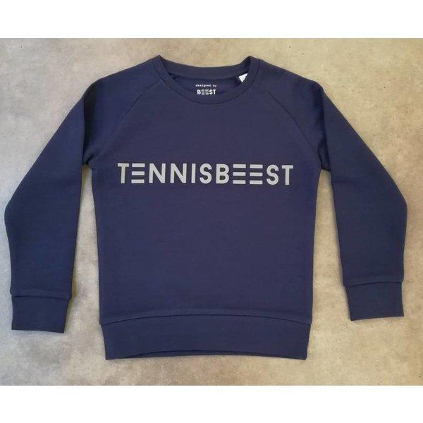 Tennisbeest sweater blauw - grijs