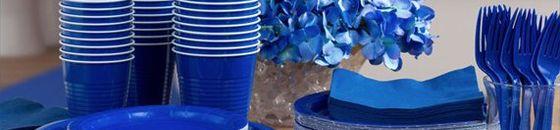Blauwe feestartikelen