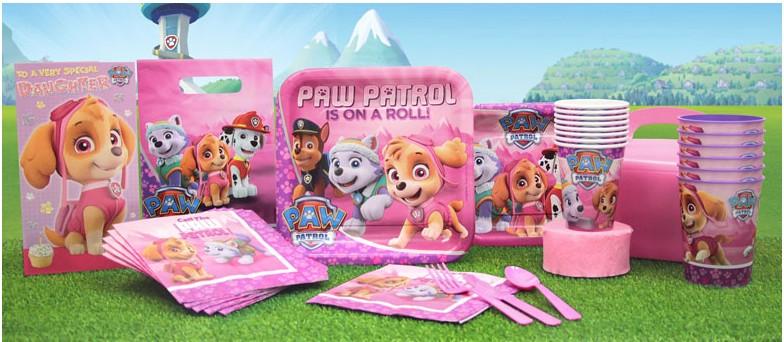 Paw patrol roze feestartikelen & versiering
