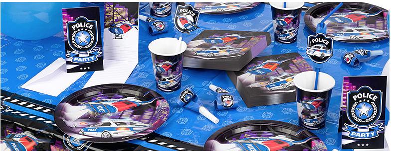 Politie feestartikelen versiering voordelige for Decoratie nep snoep