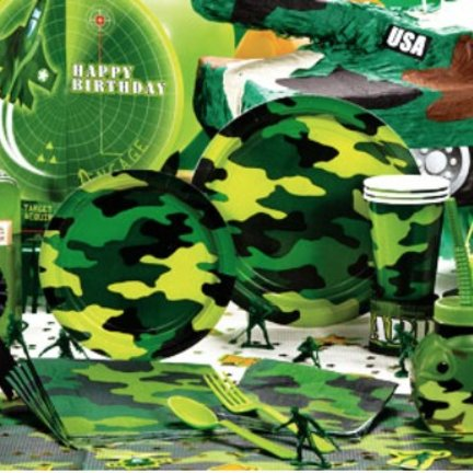 Camouflage feestartikelen & versiering